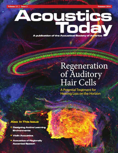 Acoustics Today Summer 2016 Issue